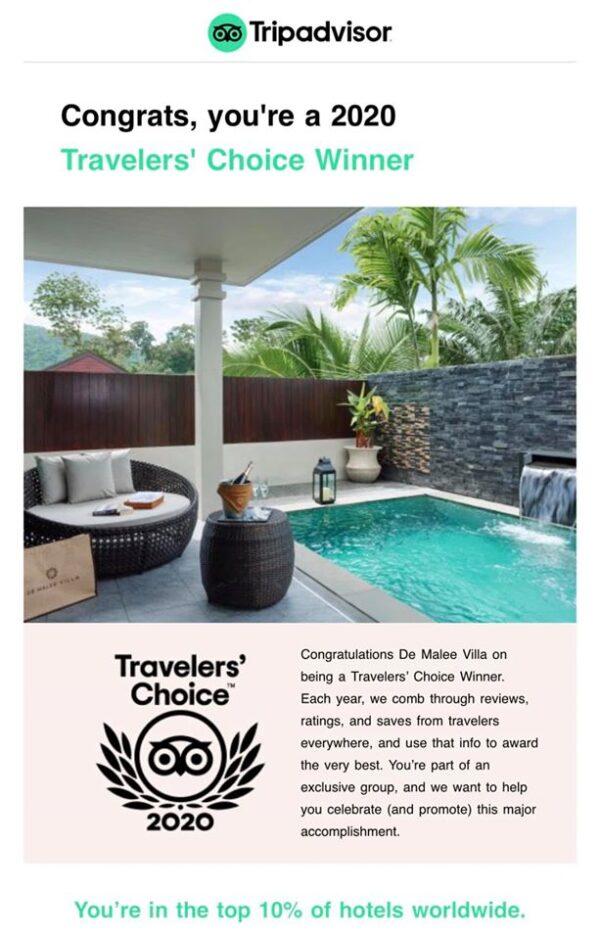 De Malee Villa is a 2020 Travelers' Choice Winner