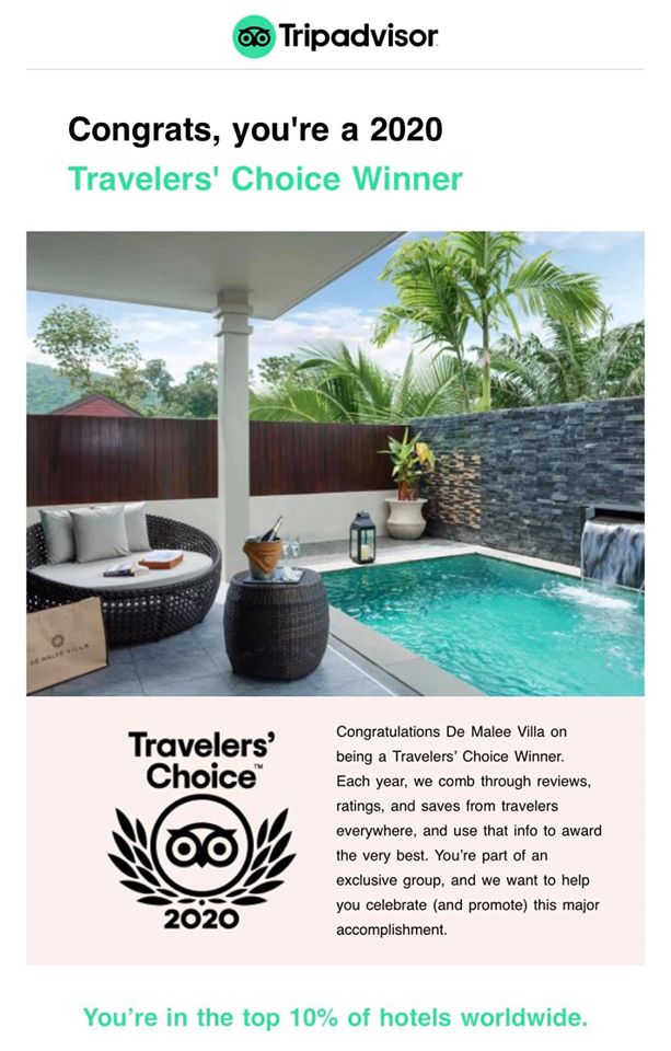 De Malee Villa is a 2020 Travelers' Choice Winner